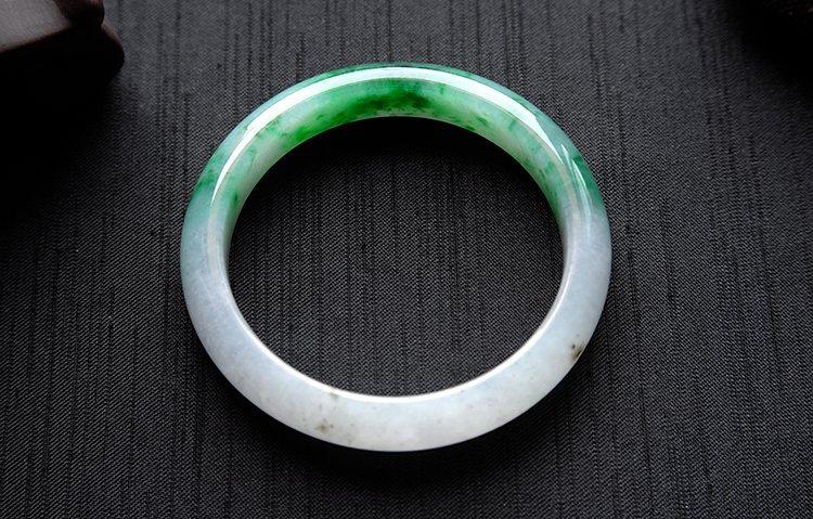 Rare Burmese jadeite jade bracelet - 3