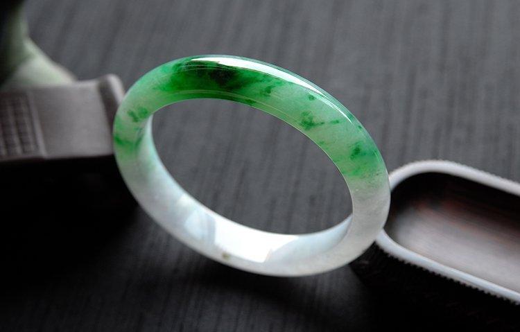 Rare Burmese jadeite jade bracelet - 4