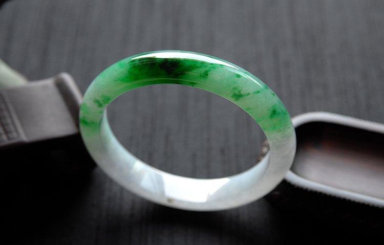 Rare Burmese jadeite jade bracelet - 6