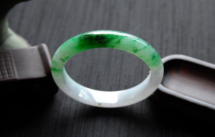Rare Burmese jadeite jade bracelet - 7