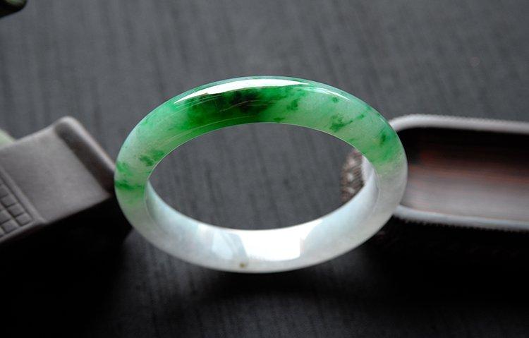 Rare Burmese jadeite jade bracelet - 9