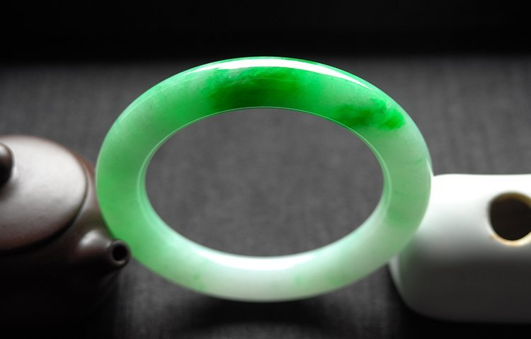 Rare Natural Burmese jadeite jade bracelet - 5
