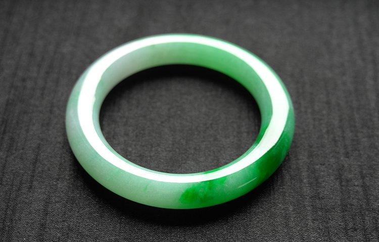 Rare Natural Burmese jadeite jade bracelet - 9