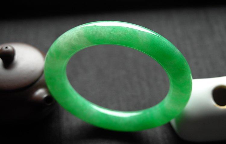 Rare Natural Burmese jadeite jade bracelet - 7