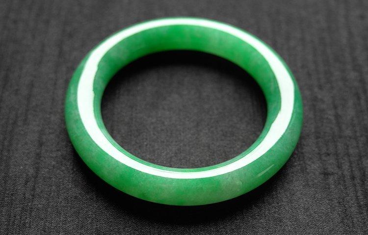 Rare Natural Burmese jadeite jade bracelet - 8