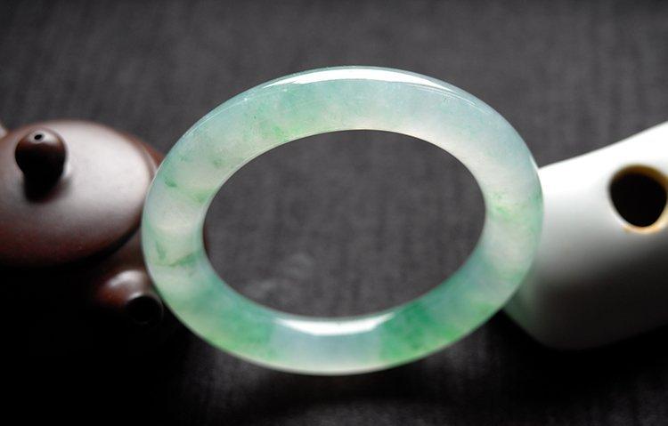 Rare Natural Burmese jadeite jade bracelet - 6