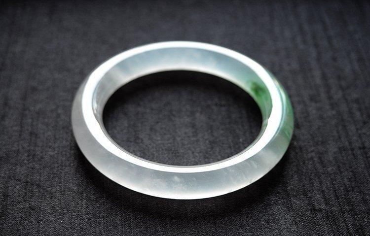 Rare Natural Burmese jadeite jade bracelet - 4