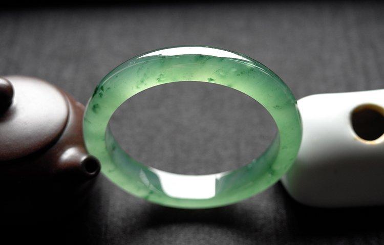Rare Natural Burmese jadeite jade bracelet - 2