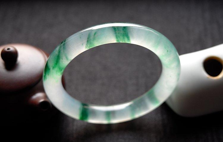 Rare Natural Burmese jadeite jade bracelet - 3