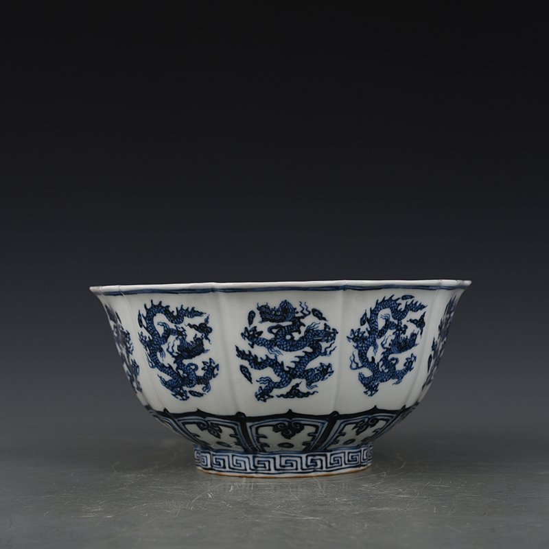 China Ming Dynasty Blue and White Porcelain Bowl