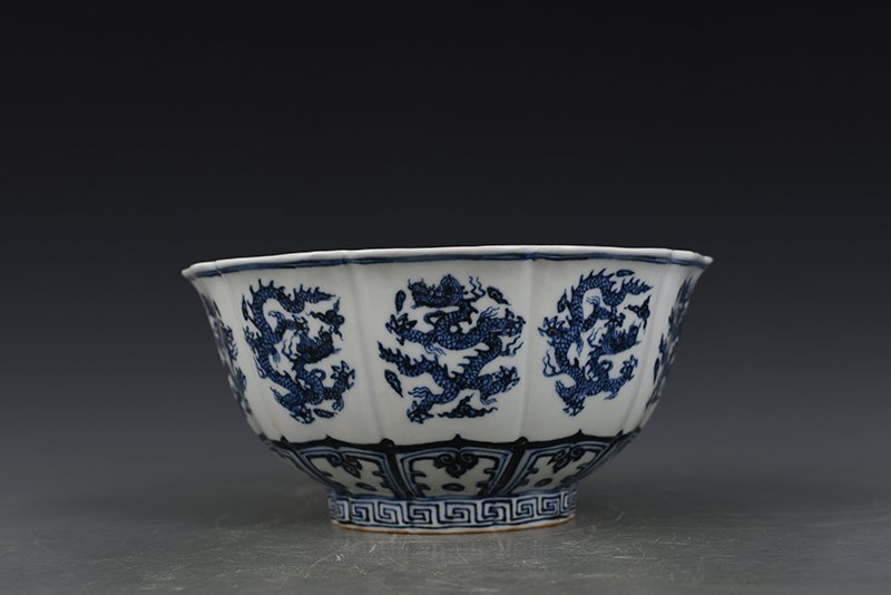 China Ming Dynasty Blue and White Porcelain Bowl - 4