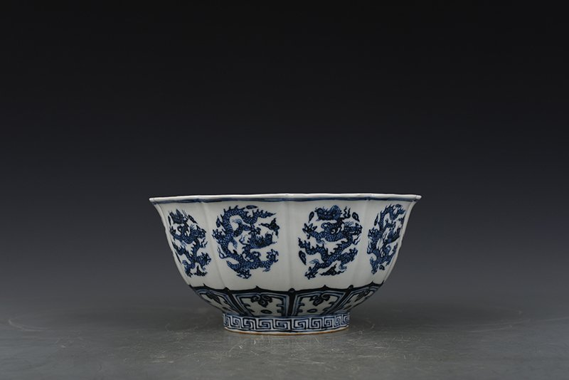 China Ming Dynasty Blue and White Porcelain Bowl - 6