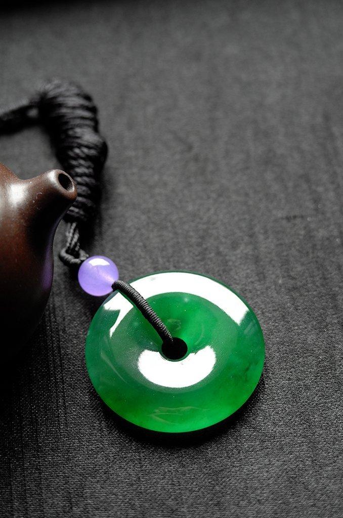 Natural Emerald Jadeite Jade Pendent