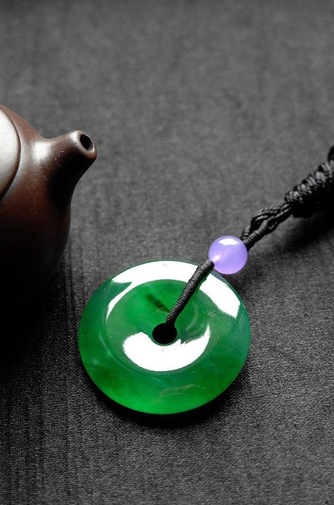 Natural Emerald Jadeite Jade Pendent - 6