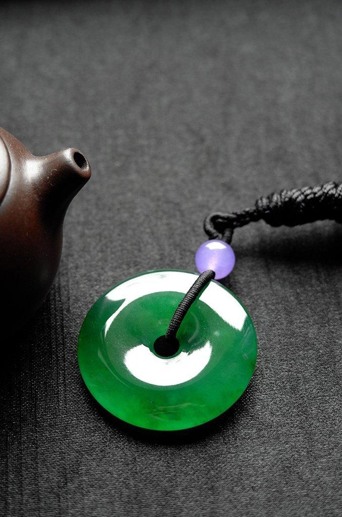Natural Emerald Jadeite Jade Pendent - 7