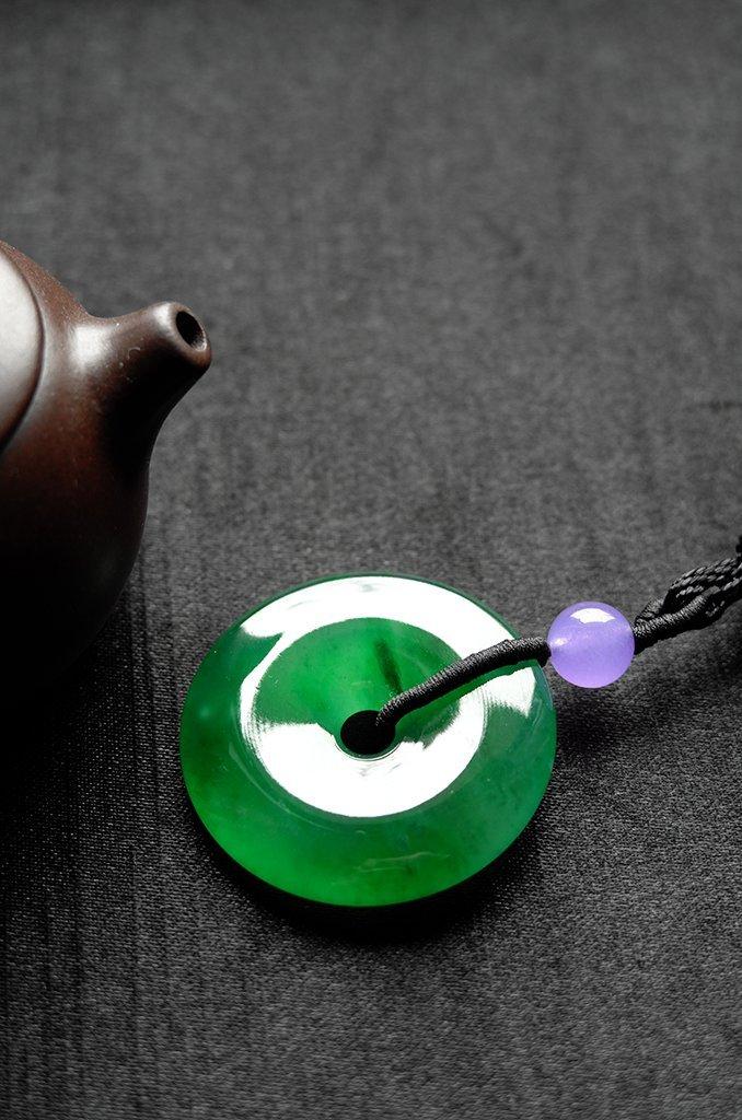 Natural Emerald Jadeite Jade Pendent - 9