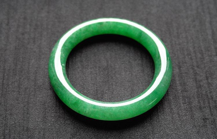Natural Emerald Jadeite Jade Bangle - 6