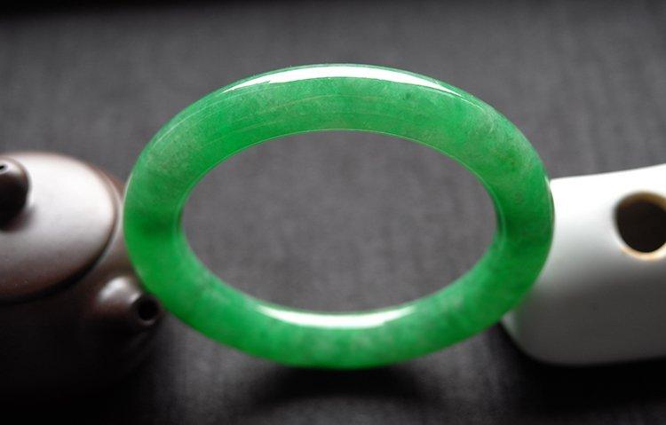 Natural Emerald Jadeite Jade Bangle - 8