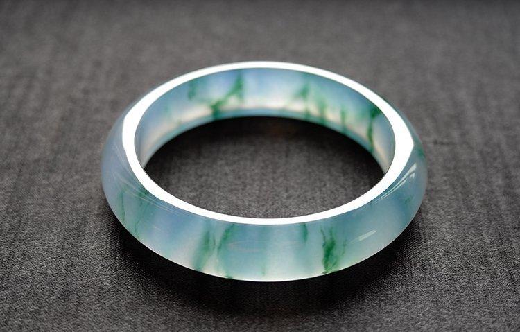 Natural Emerald Jadeite Jade Bangle - 5