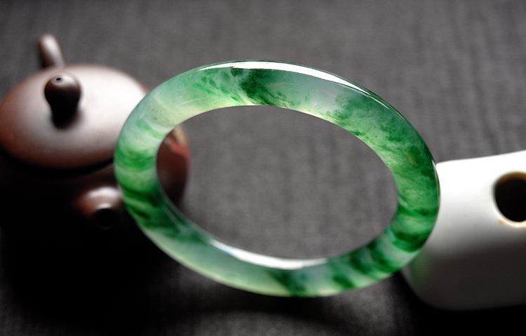 Natural Emerald Jadeite Jade Bangle - 7