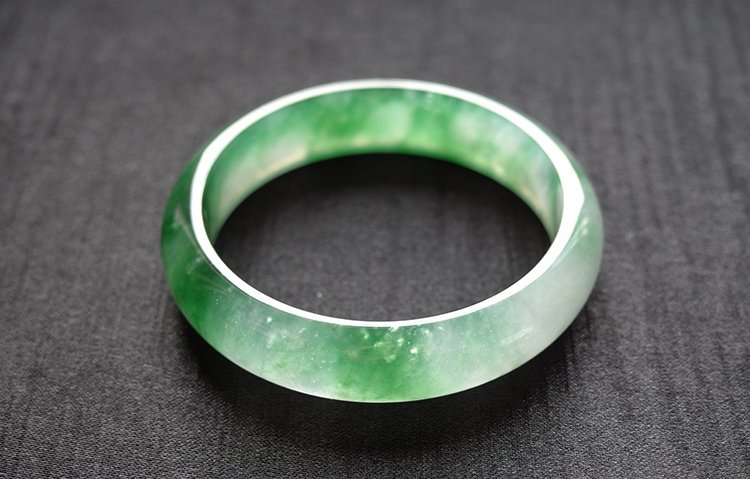 Natural Emerald Jadeite Jade Bangle - 4
