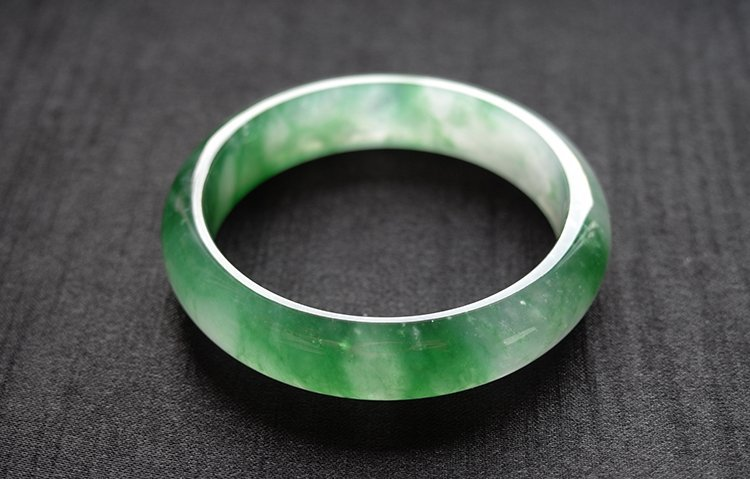 Natural Emerald Jadeite Jade Bangle - 5