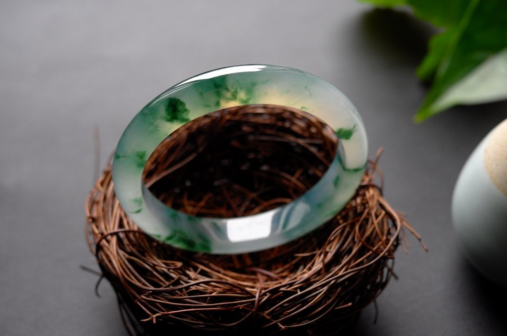 Natural Emerald Jadeite Jade Bangle - 2