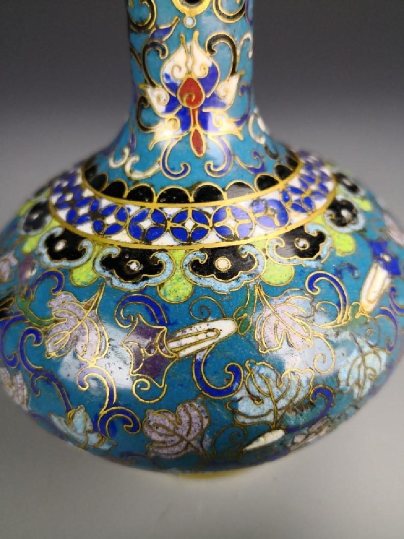 Chinese Cloisonne Vase - 7