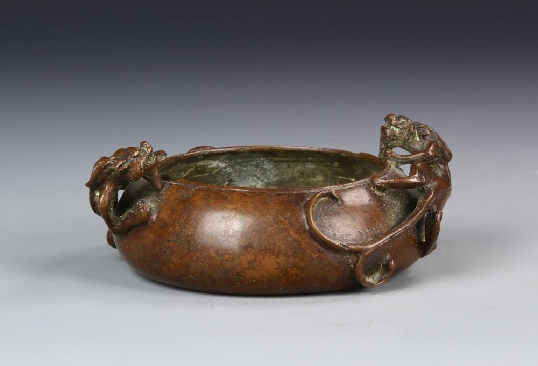 Chinese Copper Dragon Censer