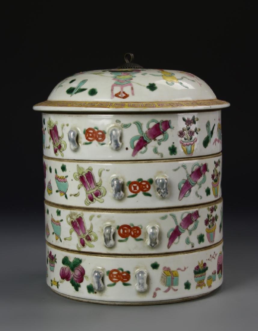 Chinese Famille Rose Stack Bowls