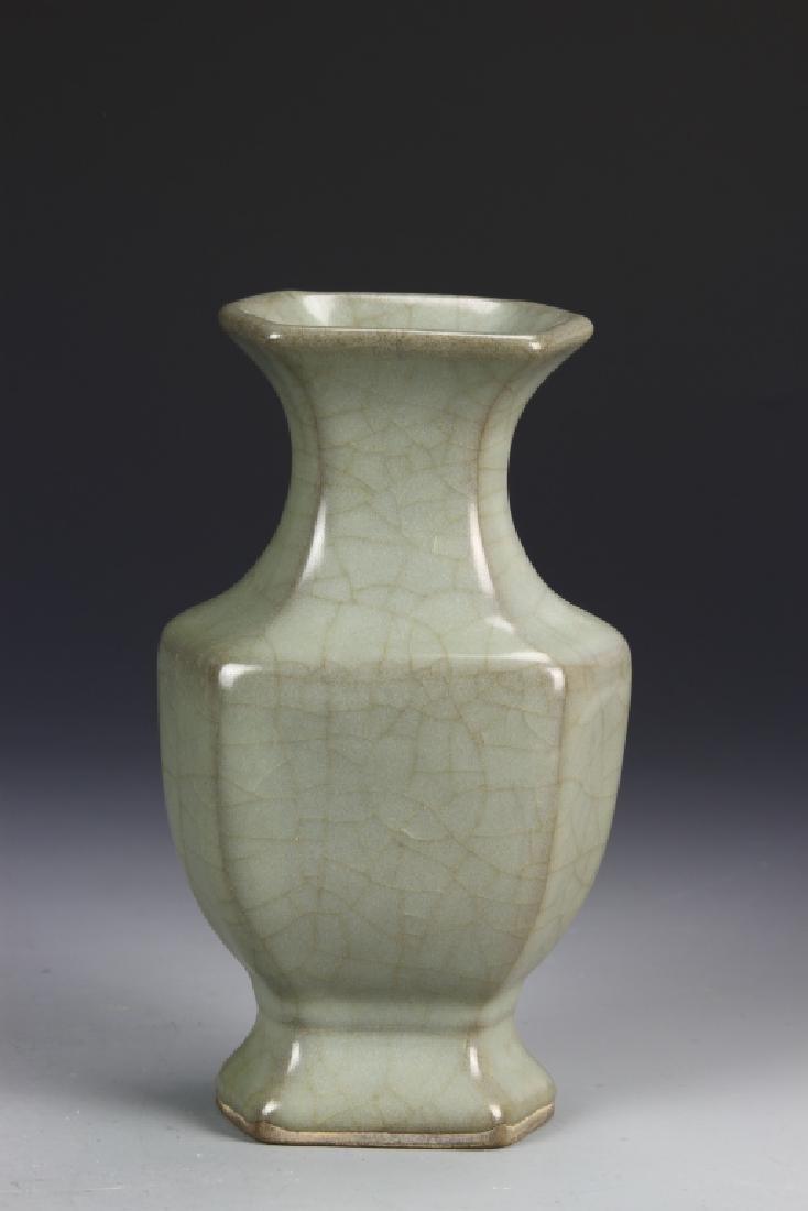 Chinese Guan Type Hexagon Vase