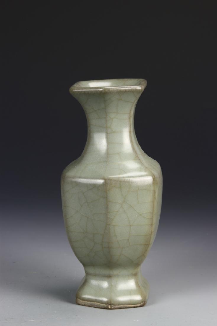 Chinese Guan Type Hexagon Vase - 2