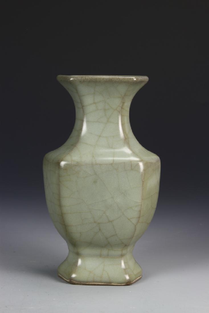 Chinese Guan Type Hexagon Vase - 3