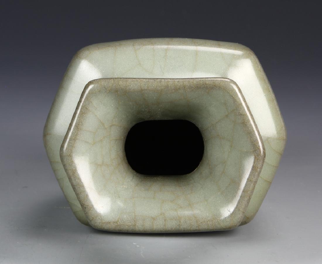 Chinese Guan Type Hexagon Vase - 4