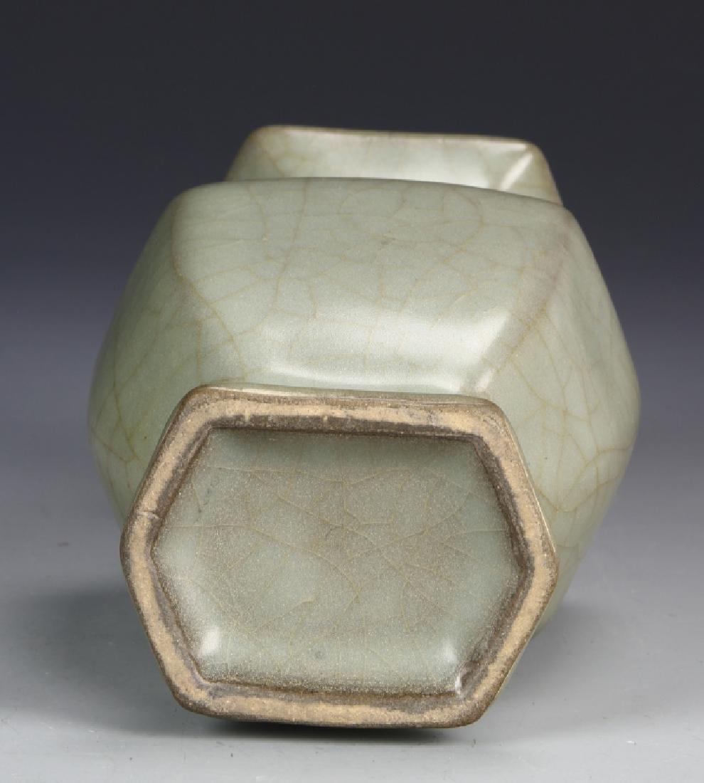 Chinese Guan Type Hexagon Vase - 5