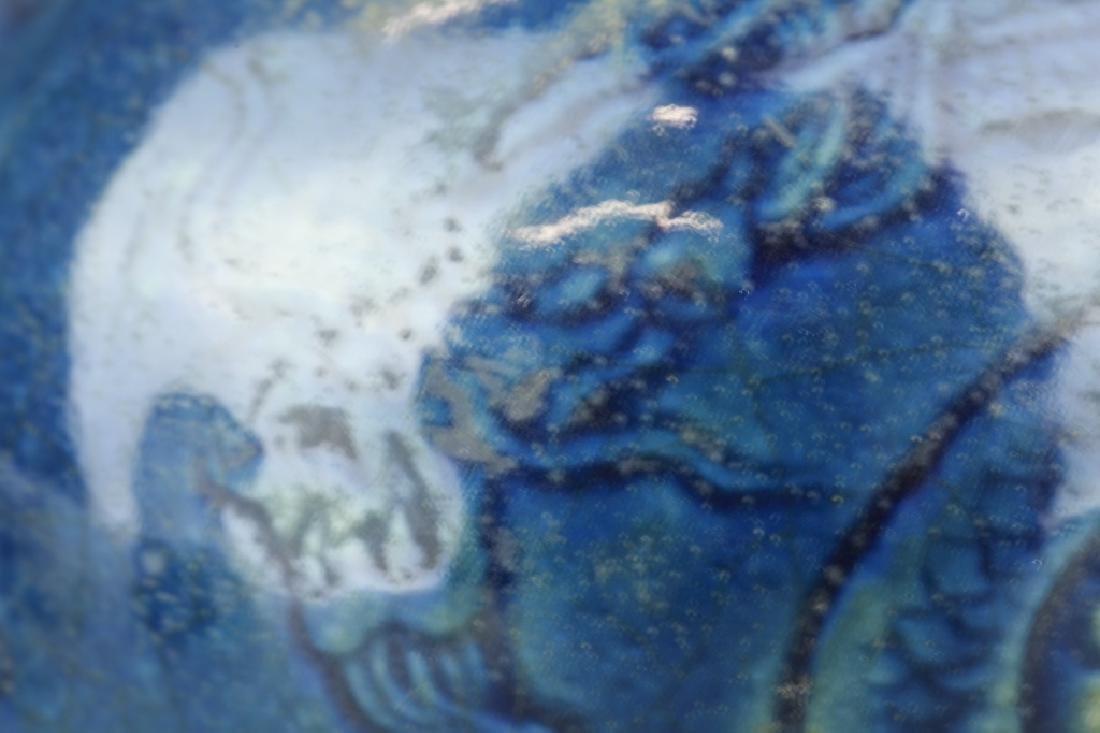 Chinese Blue Glaze Vase - 6
