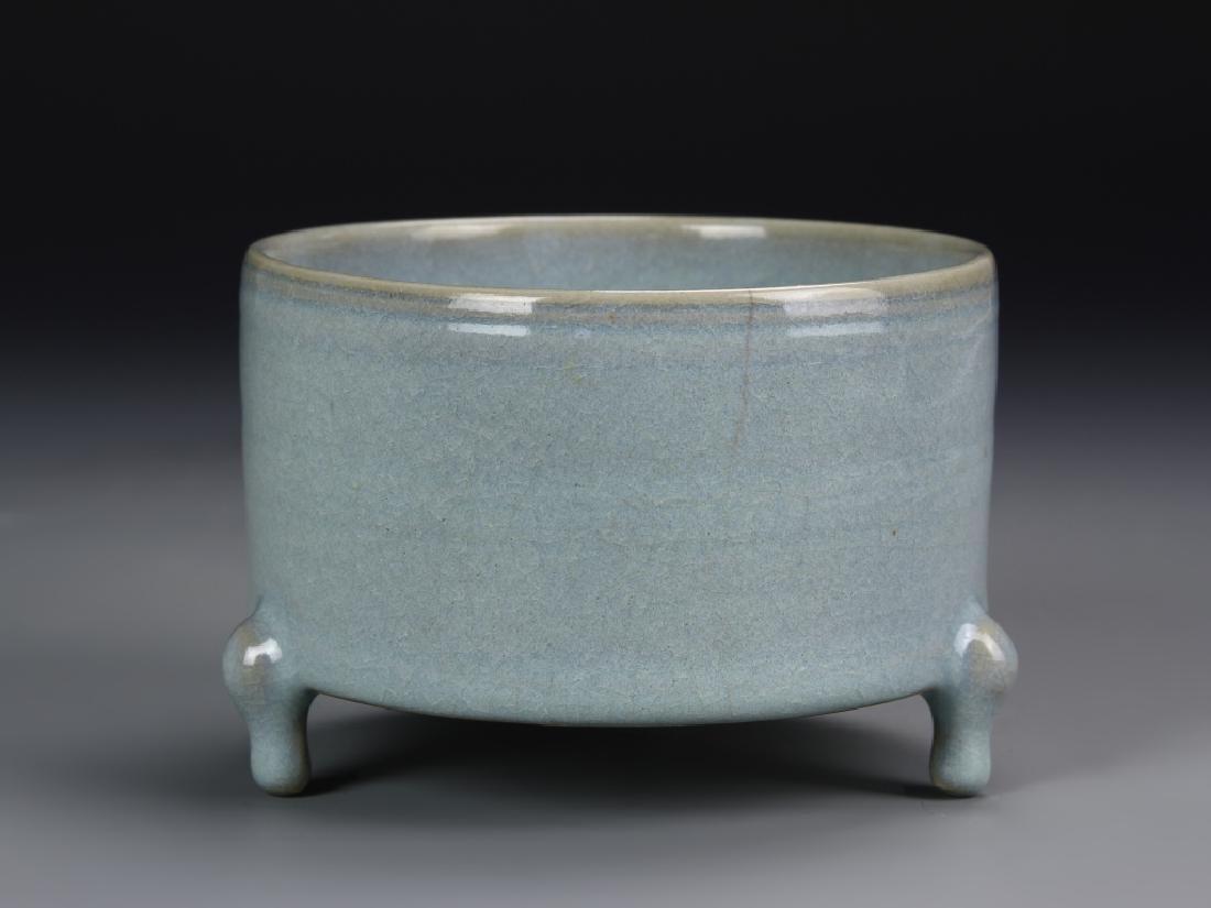Chinese Lung Quan Yao Tripod Censer