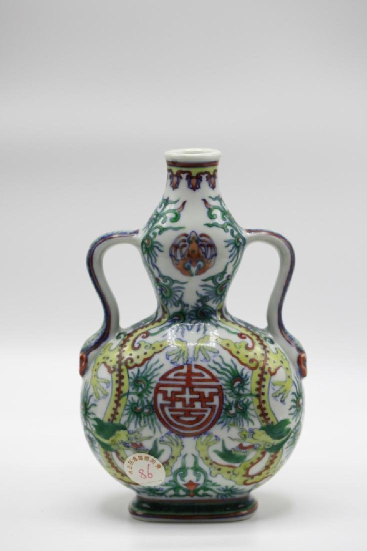 Chinese Doucai Gourd Vase
