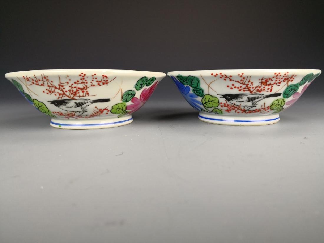 Pair OF Chinese Famille Rose Bowl