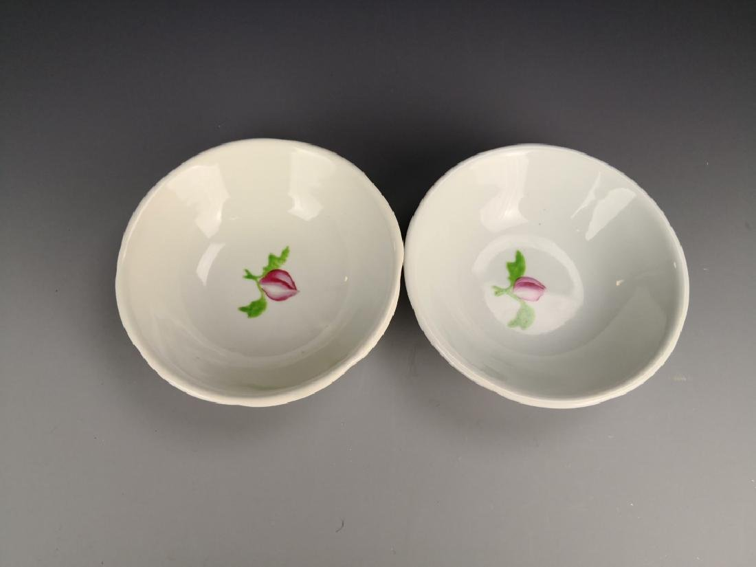 Pair OF Chinese Famille Rose Bowl - 5