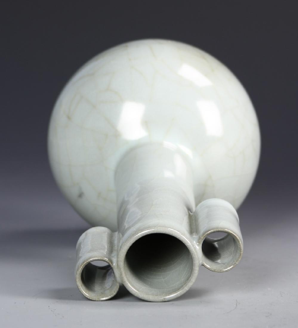 Chinese Crackle Glazed Arrow Vase - 5