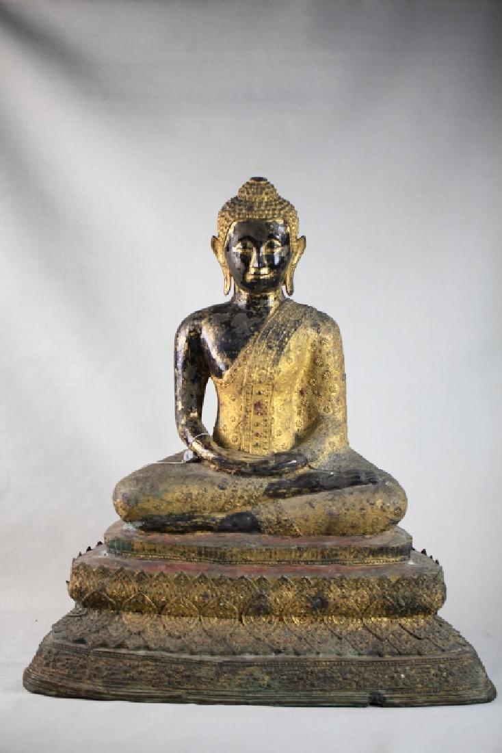 Chinese Bronze Sakyamuni statue