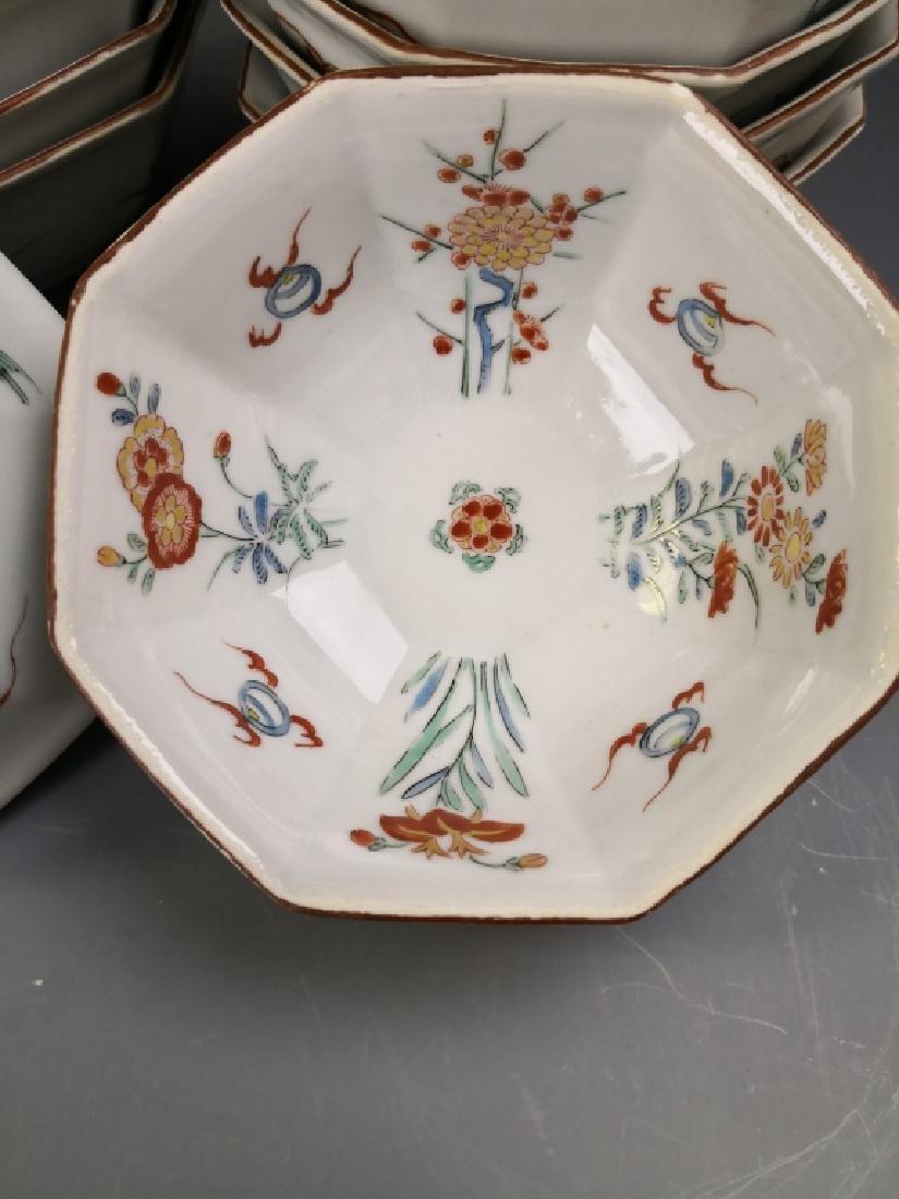Ten Chinese Famille Rose Tea Bowl - 3