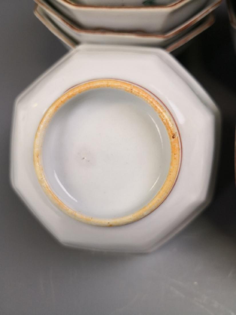 Ten Chinese Famille Rose Tea Bowl - 4