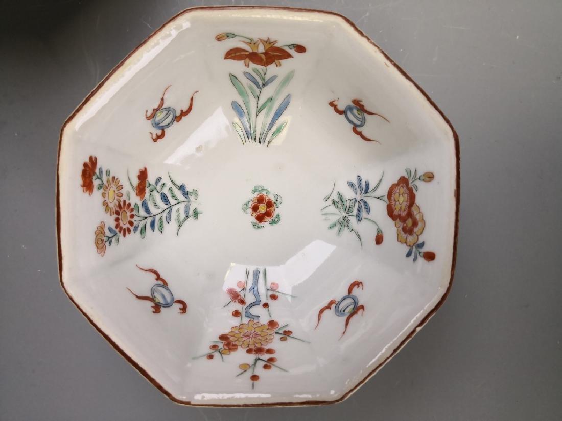 Ten Chinese Famille Rose Tea Bowl - 9