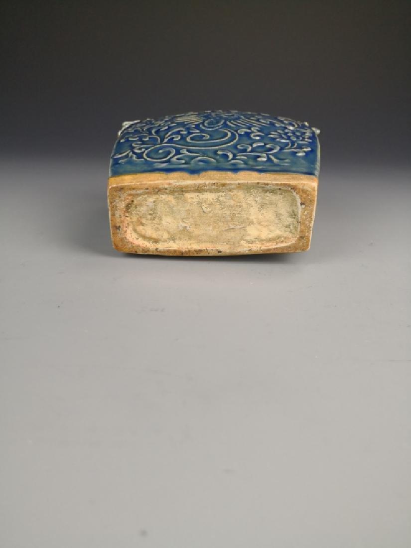 Chinese Blue Glazed Phoenix Vase - 6