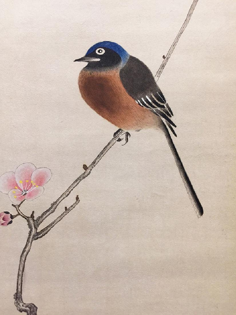 Chinese Scroll Painting of Bird and Flowers - 2