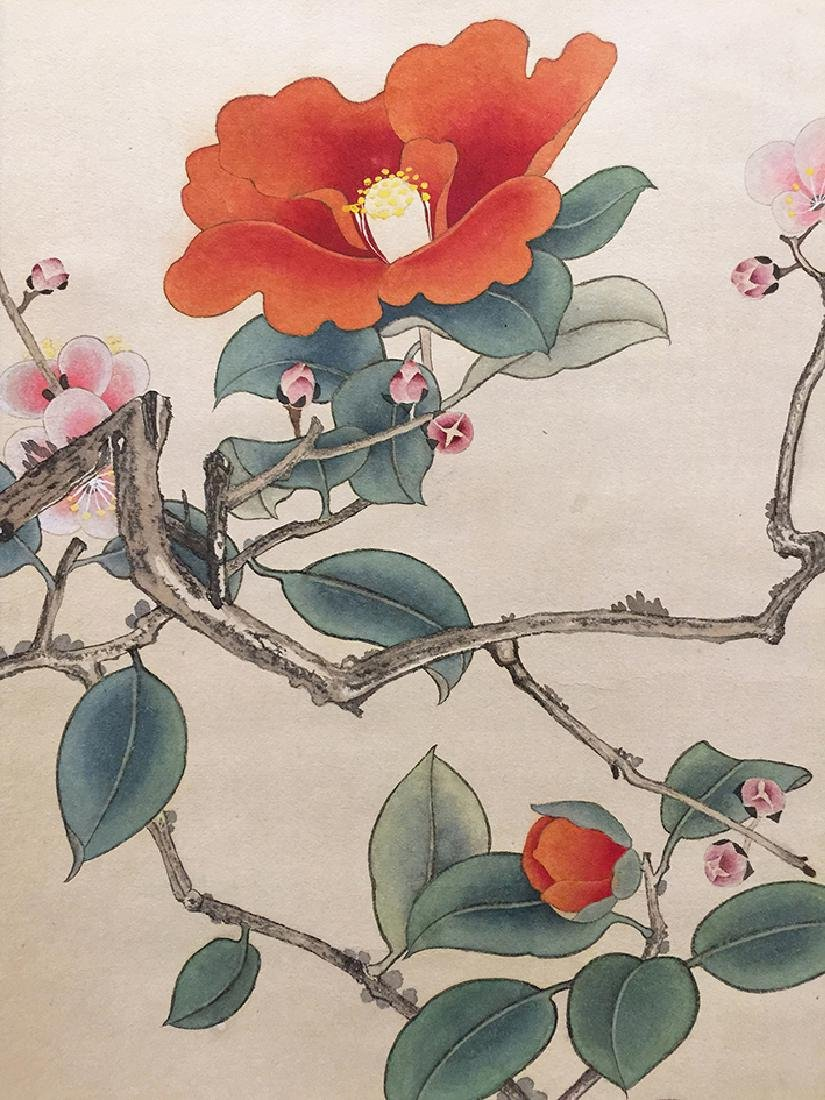 Chinese Scroll Painting of Bird and Flowers - 4