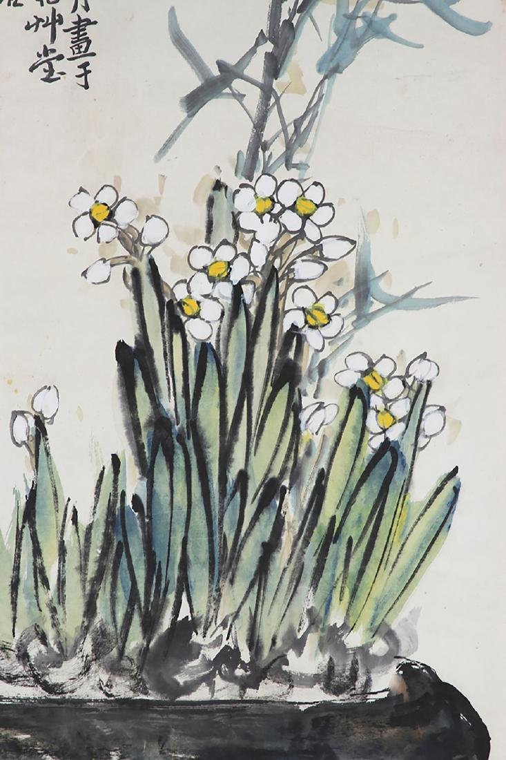 China, Scroll Painting,Flowerpot - 4