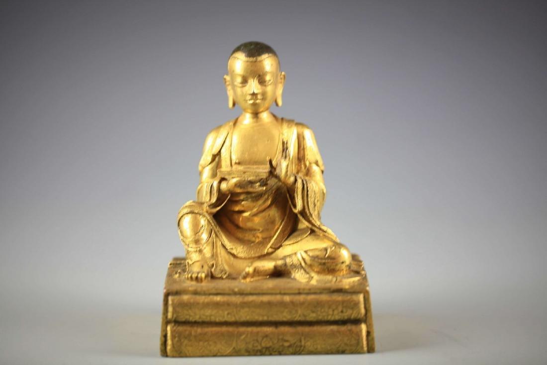 China, Gilt Bronze Figure of A Buddha